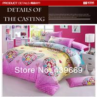Three-piece children's cartoon student single bed quilt adult bedding set king queen twin size