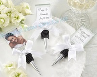Free Shipping 30pcs Photo Holder Bottle Stopper Wedding Gift WJ087@http://www.BeterWedding.com