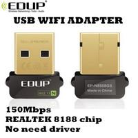 Mini USB WIFI Antenna EDUP EP-N8508GS 150Mbps Wireless 802.11 n/g/b for For Raspberry Pi  REALTEK 8188 Chip Network Card