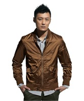 2014 New Arrived Men's  jackets male outerwear stand collar Fashion and Brand slim outerwear beautiful jacket