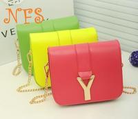 New Arrived Fashional superstar style PU bag Y words shoulder bag handbag Free Shipping