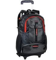 Free shipping women backpack with wheels trolley bag wheels school bag
