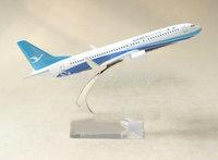Free Shipping Xiamen airline B737 16cm metal airplane models aircraft model airbus plane model kits