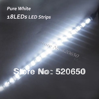 Shenzhen Factory Export 5pcs/lot PURE WHITE 1ft 30cm 18LEDs 5050 SMD Flexible Waterproof IP65 Car Truck Grill LED Strips Light