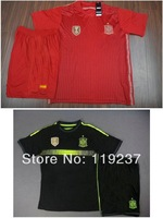 new spain home and away 2014 Brazil world cup soccer football jersey + Shorts kits, best quality spain soccer uniforms jerseys