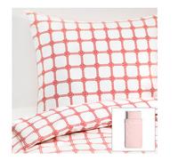 Ikea single princess conforter bed sets  200*150cm duvet cover and 2pcs of pillow cases kids bedding set  pink and blue color