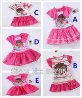 Doc Mcstuffins girls summer dress tutu lace dress one piece retail christmas rose fashion 1-7Y RT10