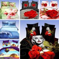 marilyn monroe bedding sets 3d bedclothes black duvet cover sets king/queen size bed linen bed sheet sets bed set#H28-01