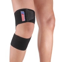 SX621 Sports Support Brace Silicone multifunction bandage (knee, elbow, ankle, shin)Wrap Protector Pad Band - Black