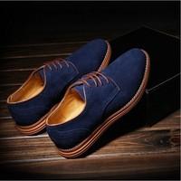 Popular men's casual skateboarding shoes men fashion flats genuine leather shoes