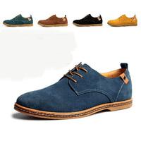 Man casual shoes genuine leather shoes men's plus size flats fashion trend shoes