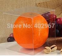 4x4x4cm Clear PVC favor Packaging boxes transparent plastic gift display package square Box show case 300pcs/lot
