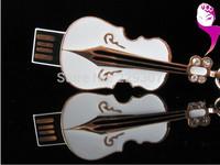 Diamond crystal violin USB Flash Memory Pen Drive Stick 1GB 2GB 4GB 8GB 16GB 32GB--Free shipping