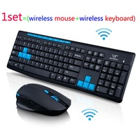 Free shipping 2.4ghz wireless mouse and keyboard combo set computer tv ultra-thin wireless mice & keyboard set