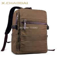 100% Cotton Canvas Rucksack Schoolbag for Teenagers Vintage Large Capacity 15.6 Inch Men Laptop Bags Male Shoulder Bag Free Ship