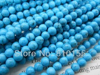 Blue Turquoise Beads Crackle Beads 4mm 6mm 8mm 10mm 12mm 15.5'' Strand