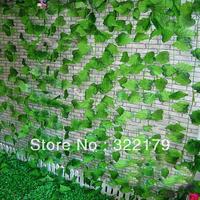 12pcs/lot  Ivy Garlands Artificial Plants Grape Leaves Garlands Vine Foliage Home Garden Decorative