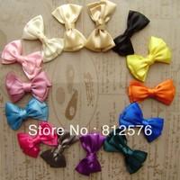 "Hair accessories for girls handmade 4.7"" big Ribbon bow 15colors 100pcs/lot"