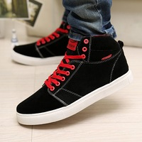 waterproof PU leather high top new arrival 2014 men's sneakers casual shoes whole sale price male