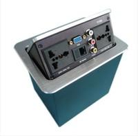 Multimedia desktop/hidden wiring board/desktop outlet/ information box double network socket