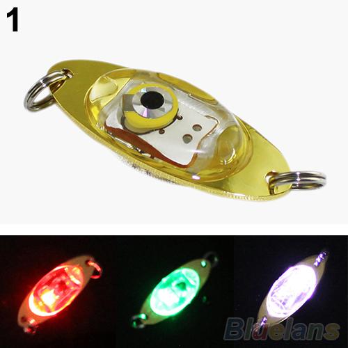 LED Deep Drop Underwater Eye Shape Fishing Squid Fish Lure Light Flashing Lamp 0349(China (Mainland))