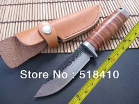 Free Shipping, Top Quality Damascus Handmade Forged Steel Sharp Fixed Hunting Knife survival Knife Camping knife