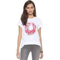 New 2014 Watercolor Donut Shirt Pattern Print Round Neck Short Sleeve t-shirts Women Plus Size Tee White
