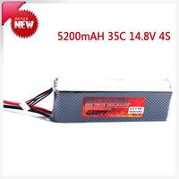 Freeshipping  14.8V 35C 5200mAH 4S Lipo Li-Po Lipoly Battery for Quadcopter