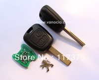 Peugeot 307 2 button remote key 434mhz with electronic ID46 chip (blade with groove)