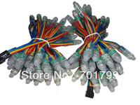 50pcs DC5V RGB dump color 12mm led string,IP68 rated