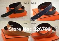 Free shipping men belt high quality brand belt Genuine leather full set of packaging box + dust bag