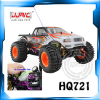 Free Shipping Large 1:10 Scale Petrol Fuel Racing Car with 4 Wheel Driver & Remote Controller HQ721 vs HQ723