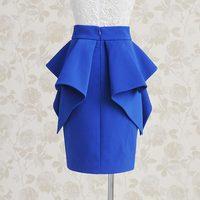 Autumn 2014 ruffle skirt high waist bust skirt short skirt