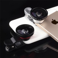 Universal  Detachable Clip on 0.4X Super Wide Angle Lens for Iphone 5/5S 4/4S Samsung HTC