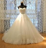 Free shipping New Classic Lace Designer Real 2015 Wedding Dresses New Patterns Plus custom Size Vestidos De Novia