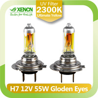 XENCN H7 12V 55W 2300K Golden Eyes Super Yellow Original Line Car Halogen Head Light SYLVANIA Quality Auto Lamp Free Shipping