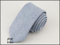 free shipping,Man necktie/100% cotton/light blue/Han edition style Pure color tie/men's fashion narrow tie,The boy's favorite