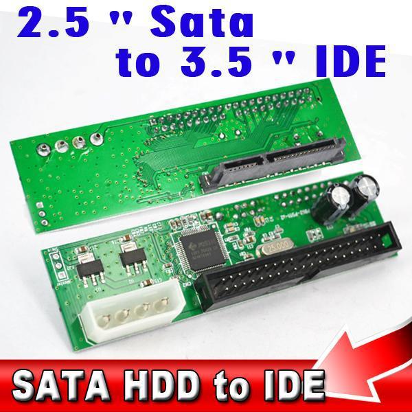 SATA to IDE 2.5 3.5 inch 44pin HDD Drive Adapter Converter Support ATA 100 133 HDD DVD CD(China (Mainland))