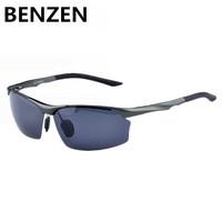 Men Polarized Sunglasses Cycling Goggles Male fashion Men Driving Glasses  Aluminum Magnesium Alloy Sunglasses UV 400 With box