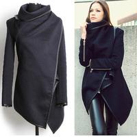 2014 Winter Woolen Overcoat Women's Outerwear Fashion Trench Wool Coat Cloak Cashmere Coats plus size