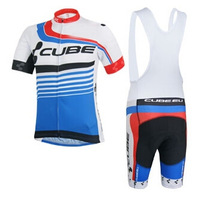 High quality!2014 CUBE team bike cycling jersey short sleeve and bicicletas bib shorts/ ropa ciclismo men DT#255