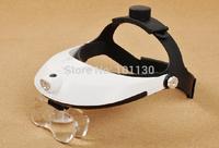 1.0X,1.5X,2.0X,2.5X,3.5X Illuminated Helmet Magnifier Adjustable Headband Dental Loupes with LED Light MG81001-H