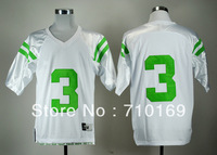 Free Shipping  Norte Dame Fighting Irish 5 &  3  White Under The Lights College Football Jersey   mix order