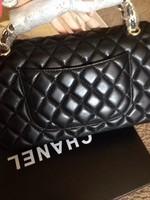 American an European Fashion Brand Genuine Leather 2.55 CF Classical Plaid Metal Chain Flap High quality Messenger Crossbody Bag