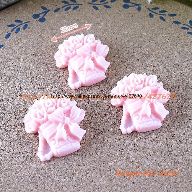 free shipping Flower Bowl Pot 22mm 10pcs flat back resin kawaii crafts DIY wedding decorations dollhouse christmas(China (Mainland))