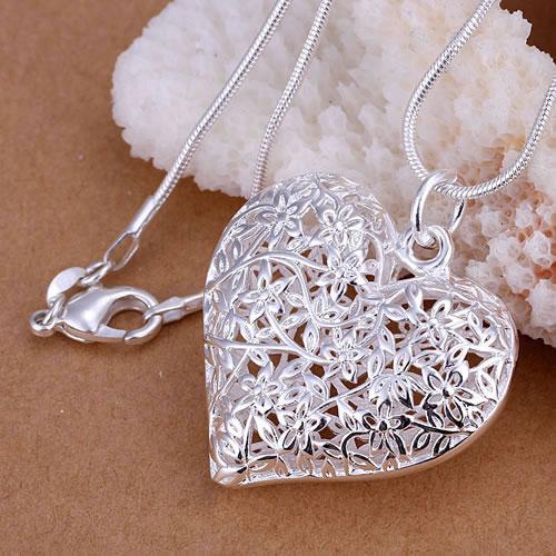925 Silver fashion jewelry pendant Necklace 925 silver necklace Frosted polygamous pendant necklace KDP218 cvuf jejm