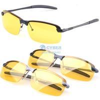 4Sets/Lot With Box New 2014 Men Polarized Driving Sunglasses Yellow Lense Night Vsion Driving Glasses Goggles Reduce Glare 19865
