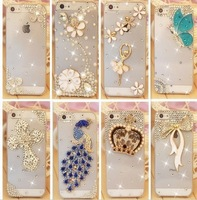 Rhinestone Case For Apple Iphone 5 5s Iphone 4 4s,New Arrival Simple Diamond Hard Back Skin Mobile phone Case Protective Shell