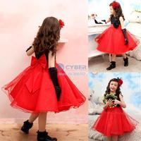 5Pcs/Lot Wholesale 2014 New Kids Girls Dress cute sleeveless princess dress circle Korean Fashion children's clothing New 19886