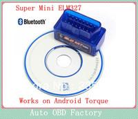 2013 New Release Super Mini ELM327 Bluetooth V1.5 OBD2 auto code reader mini327 Car diagnostic interface ELM 327 FREE SHIPPING